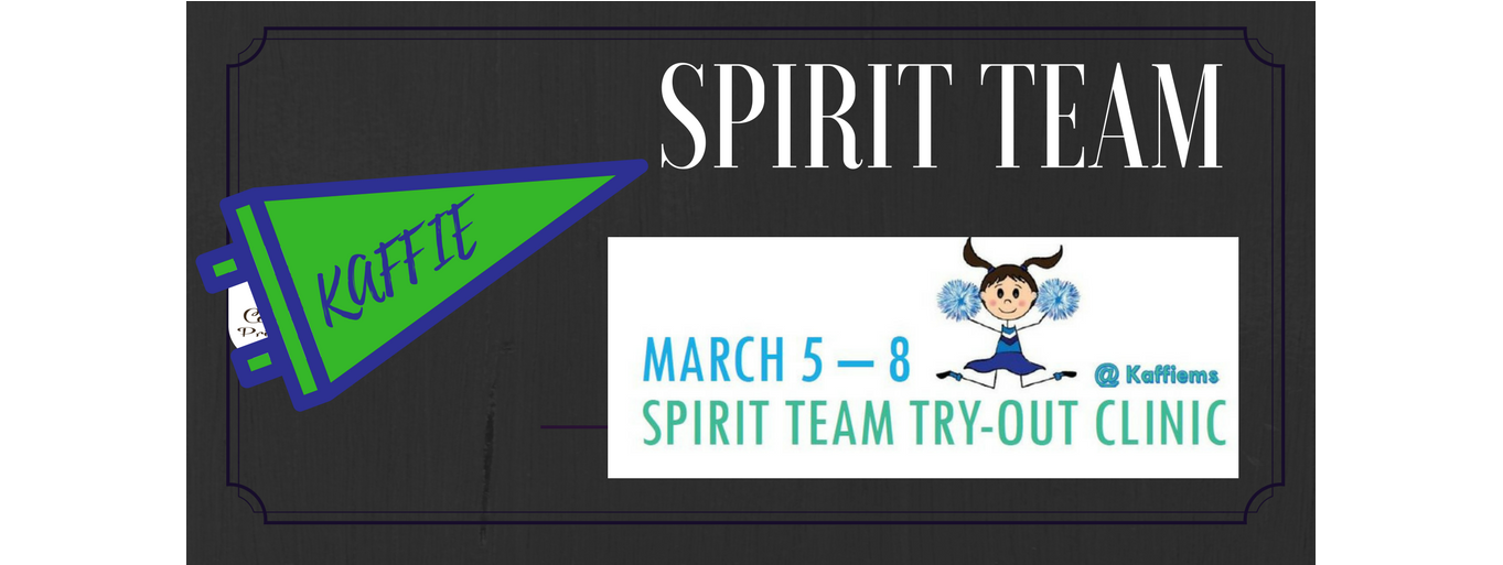 Click for Spirit Team Flyer